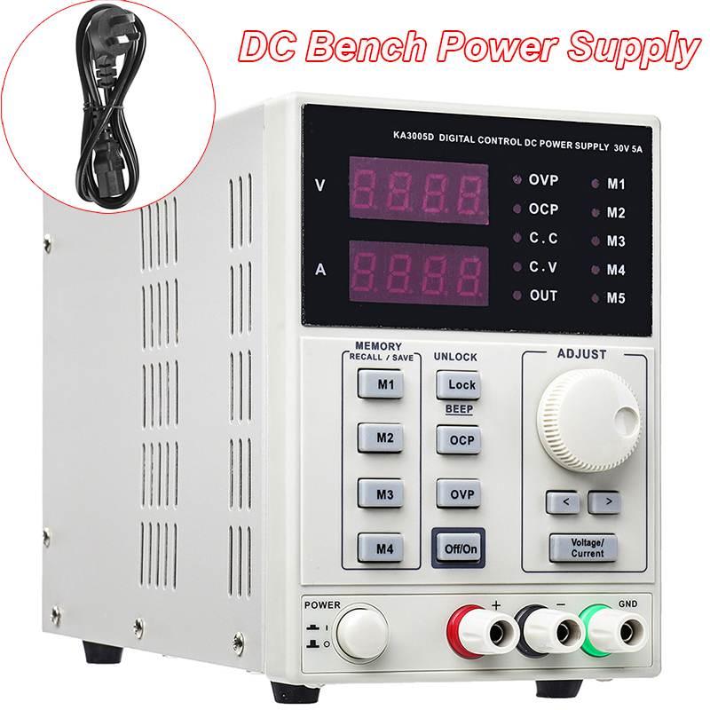 Laboratoire DC banc alimentation Variable paillasse 4 espaces de mémoire 0-30 V 0-5A LCD affichage précis banc alimentation Machine