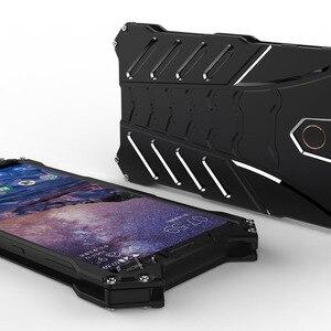 Image 5 - Luxo batman kickstand caso à prova de choque para nokia 7 plus choques de alumínio armadura pele metal capa traseira