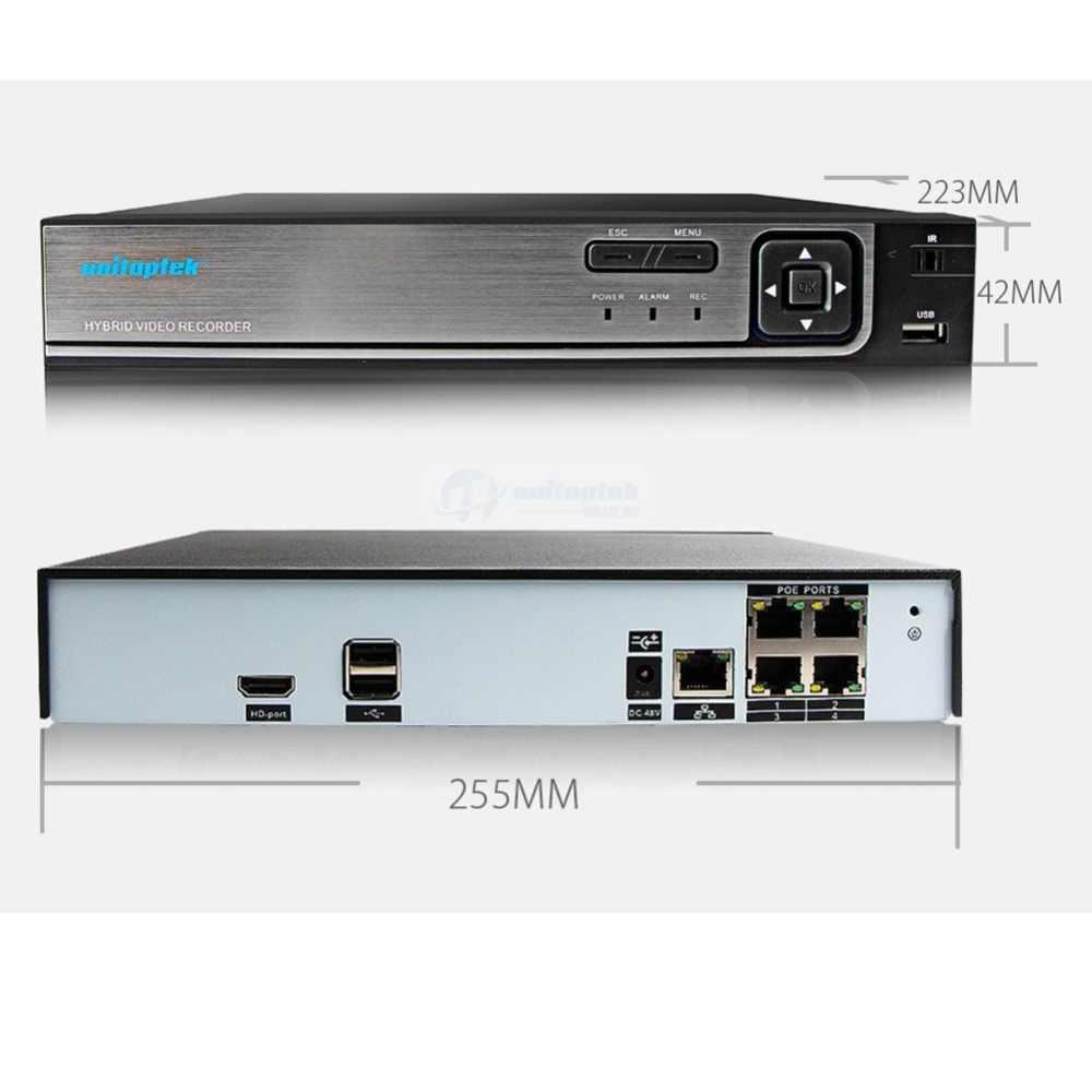 Plug & Play 4CH 4MP กล้องวงจรปิดระบบกล้อง 48V POE กล้อง IP กล้องรักษาความปลอดภัยกลางแจ้ง Night Vision IP66 วิดีโอชุดกล้องวงจรปิด