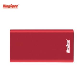 128GB SSD KingSpec Type-c USB 3.1 External 128 GB SSD Hard Drive Disk With JMS576 Controller For Laptop Server Desktops Tablets