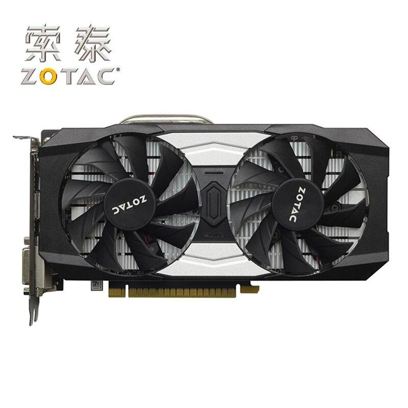 ZOTAC GTX 1050Ti-4GD5 destructeur OC carte graphique GPU GTX1050 Ti 4 GB carte pour GeForce GTX1050Ti Overclock 128Bit carte vidéo utilisée