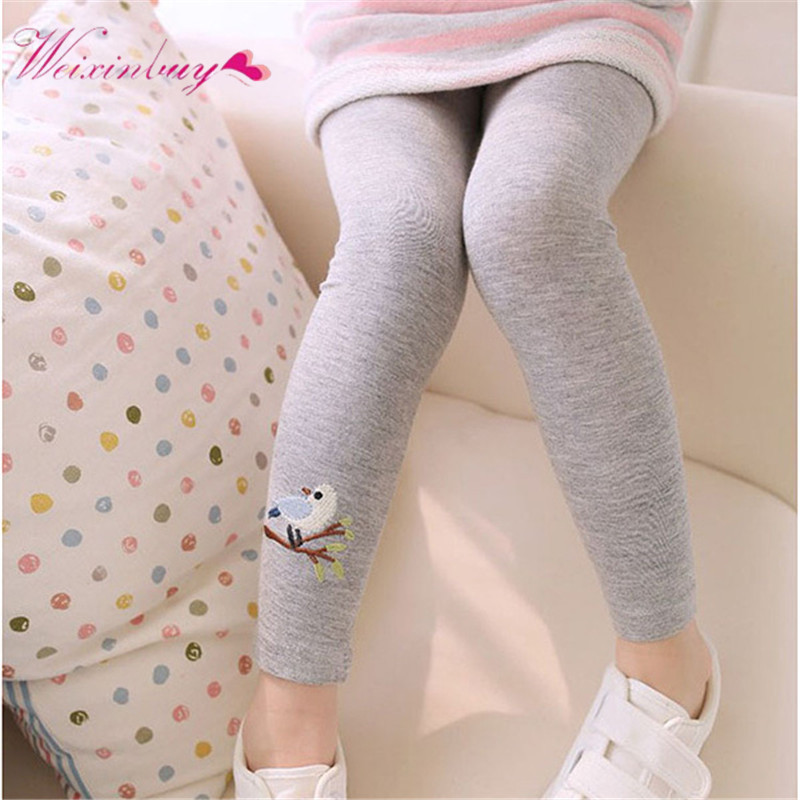 Kids Children's Leggings Summer&Autumn Toddler Baby Girls Skinny Pants Bird Print Stretchy Leggings watercolor print leggings