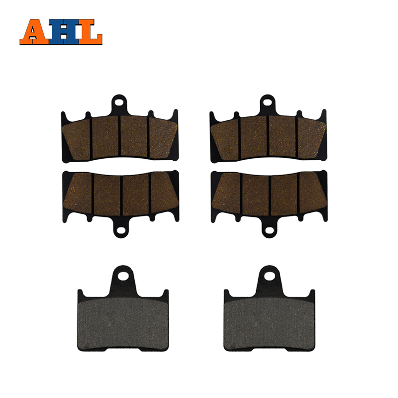 AHL Motorcycle Front and Rear Brake Pads for SUZUKI GSX 1400 GSX1400 K1/K2/K3/K4/K5/K6/K7/FE 2001-2007 Black Brake Disc Pad motorcycle front and rear brake pads for suzuki gsx 750 gsx750 f katana 1998 2006 black brake disc pad