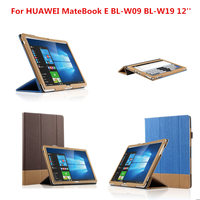 New Fashion Business PU Leather Flip Cover Shell Protective Case For HUAWEI MateBook E BL W09