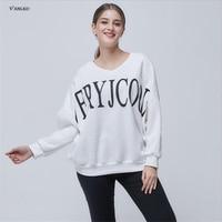 2017 Hot Selling Spring Autumn Hoodies Women Loose Obesity Female Sweatshirts Fashion Casual Letter Fleece Women