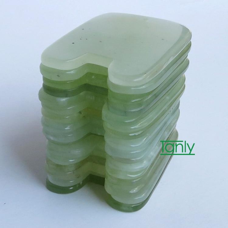 wholesale and retail Gold Ingot shaped gua sha board beauty facial kit natural JADE ...