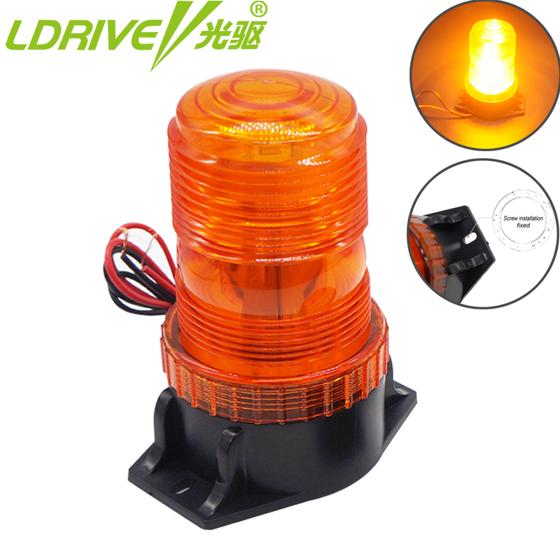 12V-24V 30 LED Strobe Flash Light Daytime Running Roof DRL Beacon Light Car Police Dash Emergency Warning Flashing Fog Lights amber 30 led emergency strobe flashing warning light 12v 24v yellow warn beacon lights signal lamp for school bus truck atv utv