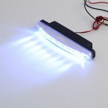 2Pcs Universal Car Daytime Running Lights 8 LED DRL Daylight Kit Super White 12V DC Head Lamp light