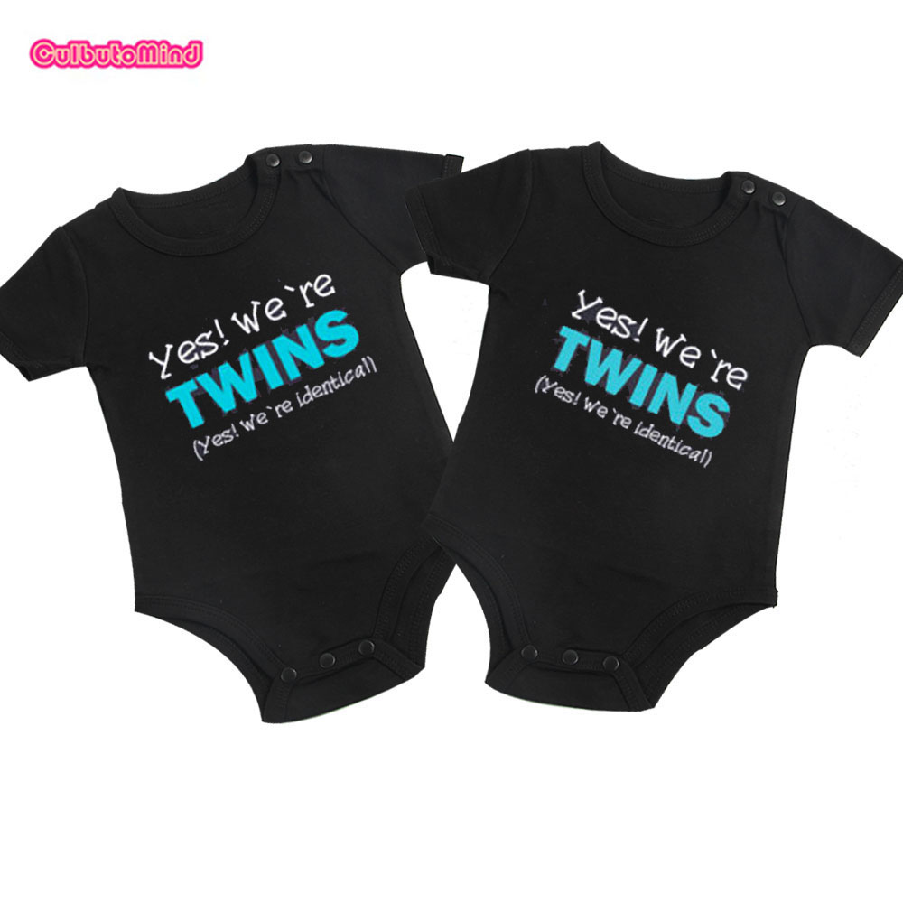 Culbutomind Twins Baby clothes Set Yes, we are twins Boy Girl Shirt or Baby Style Clothing Bodysuit twin Baby Clothing