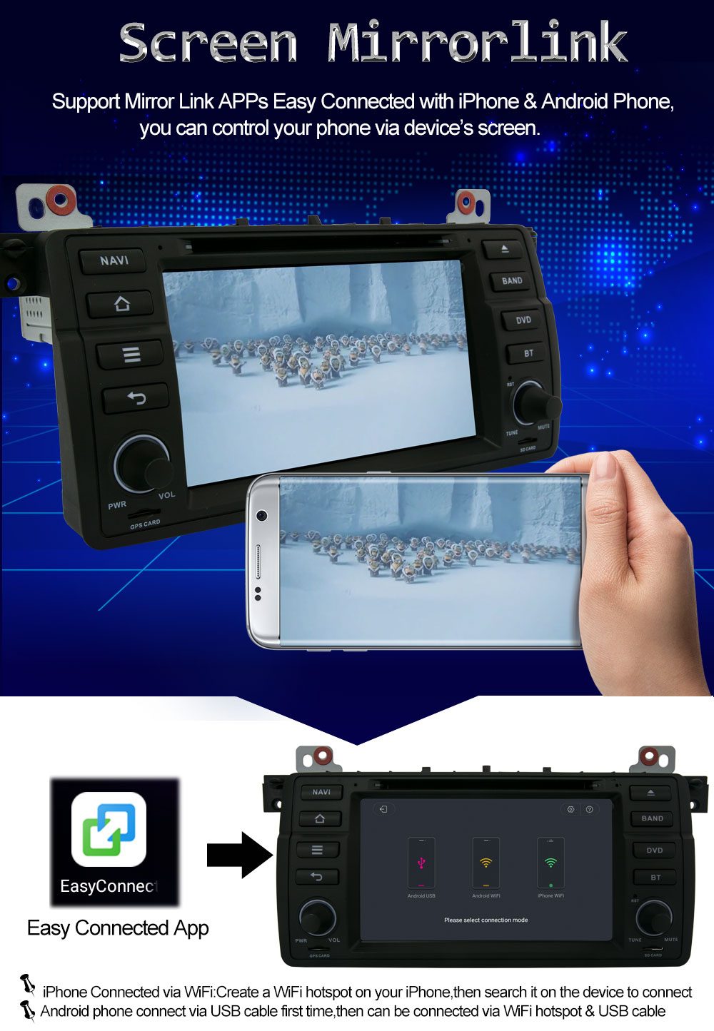 Android 8.0 Octa Core 4G RAM Car DVD Player for BMW 3 Series E46 M3 ...