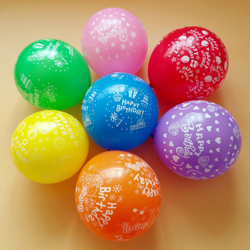 50pcs/lot 12 inch thickening birthday balloon party decoration multicolor Candy