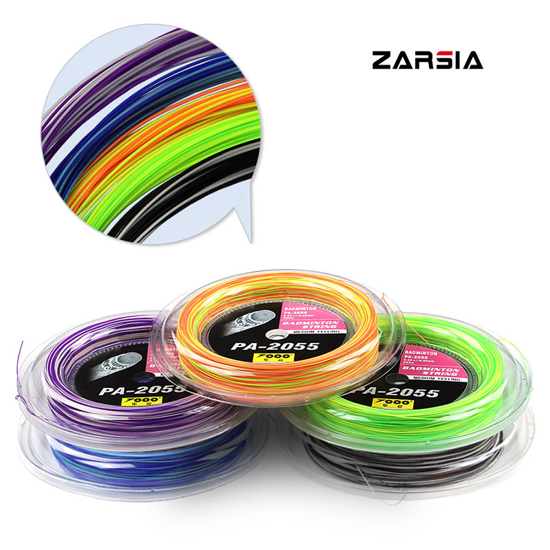 2018 Hot selling TOPO Rainbow Badminton String Reel 200M 0.7MM good control and elastic Free shipping