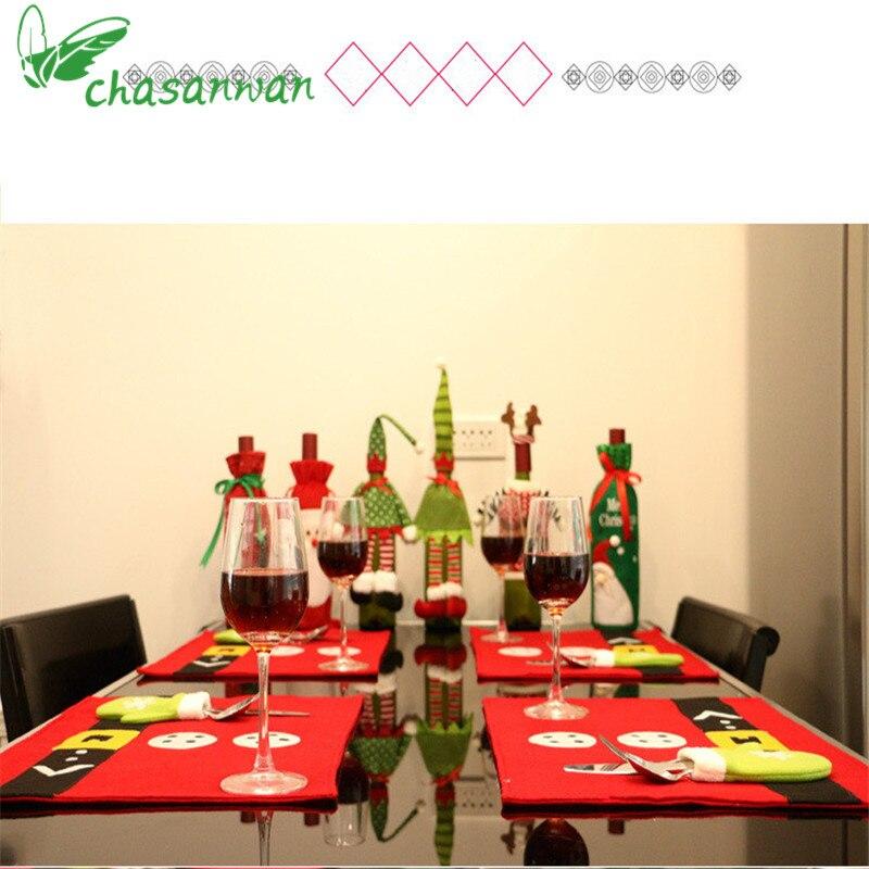 1 piezas decoraciones navideñas decoración del hogar manteles - Para fiestas y celebraciones - foto 6