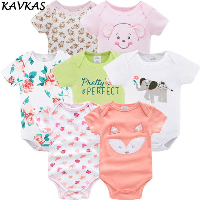 5ec00ddfa 2018 7pcs Baby Rompers Summer Mayo Baby Clothing Boy Girl Roupas De ...