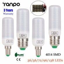 E27 E14 светодиодный кукурузная лампа светильник 5W 7W 8W 9W 15W 4014 SMD Холодный белый/теплый белый/розовый/фиолетовый AC 220V 36 56 72 96 138 светодиодный s lamprada светильник s