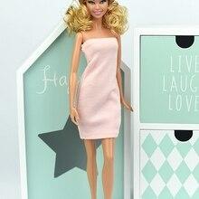 39f2019346 Rosa dulce sexy 1 6 vestido para muñeca Barbie de una pieza Vestidos de noche  vestido falda del puente ropa para muñeca Barbie b.