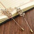 Moda Broches de Casamento Deixa Colar De Metal Pin de Lapela Botões Banhados A Ouro Pin Up Camisa Acessórios Jóias em 4 Cores