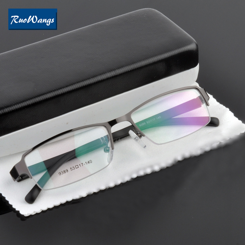 84b271e2c5 RuoWangs eyeglasses men women brand frame glasses spectacle oculos de grau prescription  frame eye glasses optical glass Myopia-in Eyewear Frames from ...