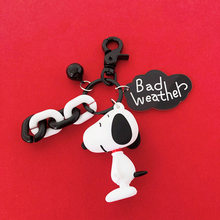 Fashion Dog Car Keychain Animal Couple Lovely Keychain Car Keyring Gift For Girl Women Men Jewelry Mothers Day Bag Charm(China)