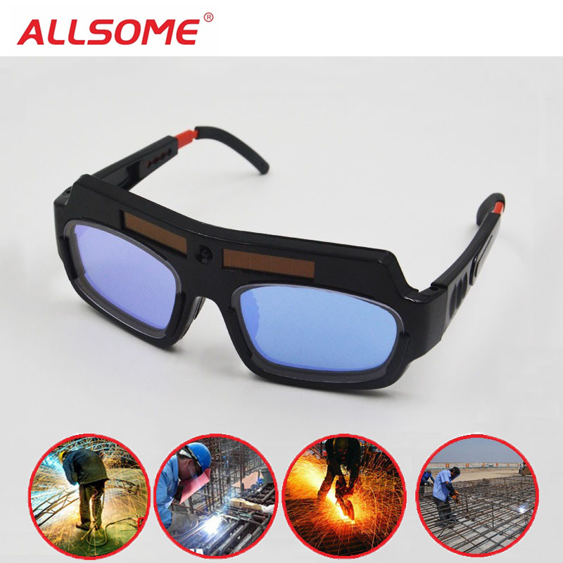 ALLSOME Solar Auto Darkening Eyes Mask Welding Helmet Welding Mask Eyeshade/Patch/Eyes Goggles For Welder Eyes Glasses HT1588