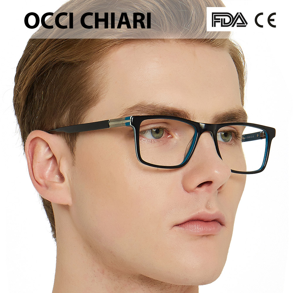 1a698e698f65 OCCI CHIARI Fashion Eyeglasses For Men Brand Designer Spring Hinge Eyewear  Glasses Frame Classic Square Metal Decorate W CAPO-in Eyewear Frames from  Apparel ...