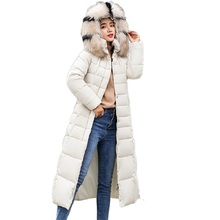 Winter Jackets women 2018 New long Slim big fur hooded Parkas coat with Large fur collar female women's down jacket S-3XL fashion korean puff sleeve raccoon fur large fur collar short slim fashion women s winter coat 2018 women s winter down jacket