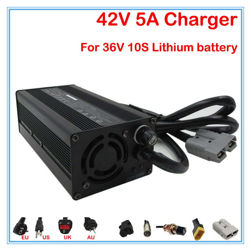 240W Output 42V 5A charger 36V 5A lithium ion battery charger for 36V 10S 20ah 30ah