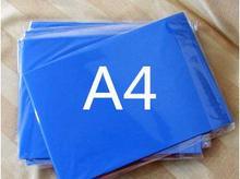200 arkuszy A4 rozmiar dobrej jakości niebieski kolor nadający się do wydruku CT folia do drukarek atramentowych