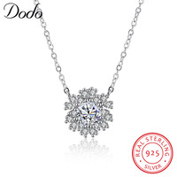 DODO Fashion 925 Sterling Silver Necklaces Pendants For Women Shining Snowflakes Necklace Femininos Christmas Gift SN118