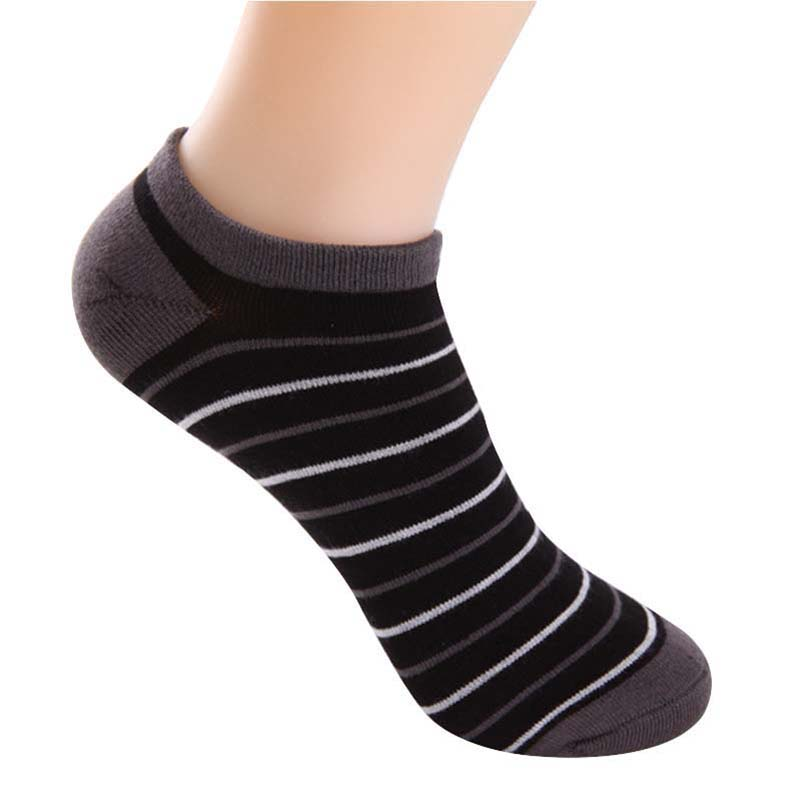 5pairs Men Socks Summer Autumn Thin Comfort Socks Man Ankle Fashion Classic Striped Bamboo Cotton Male Sock Meias Sox Calcetines