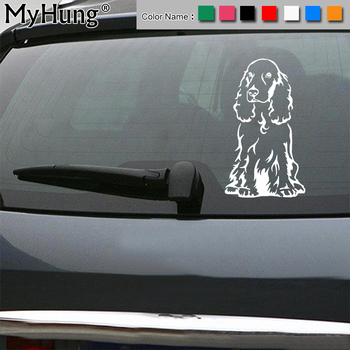 8 7*15CM Cocker Spaniel Dog Car Stickers Creative Pet Cartoon Vinyl