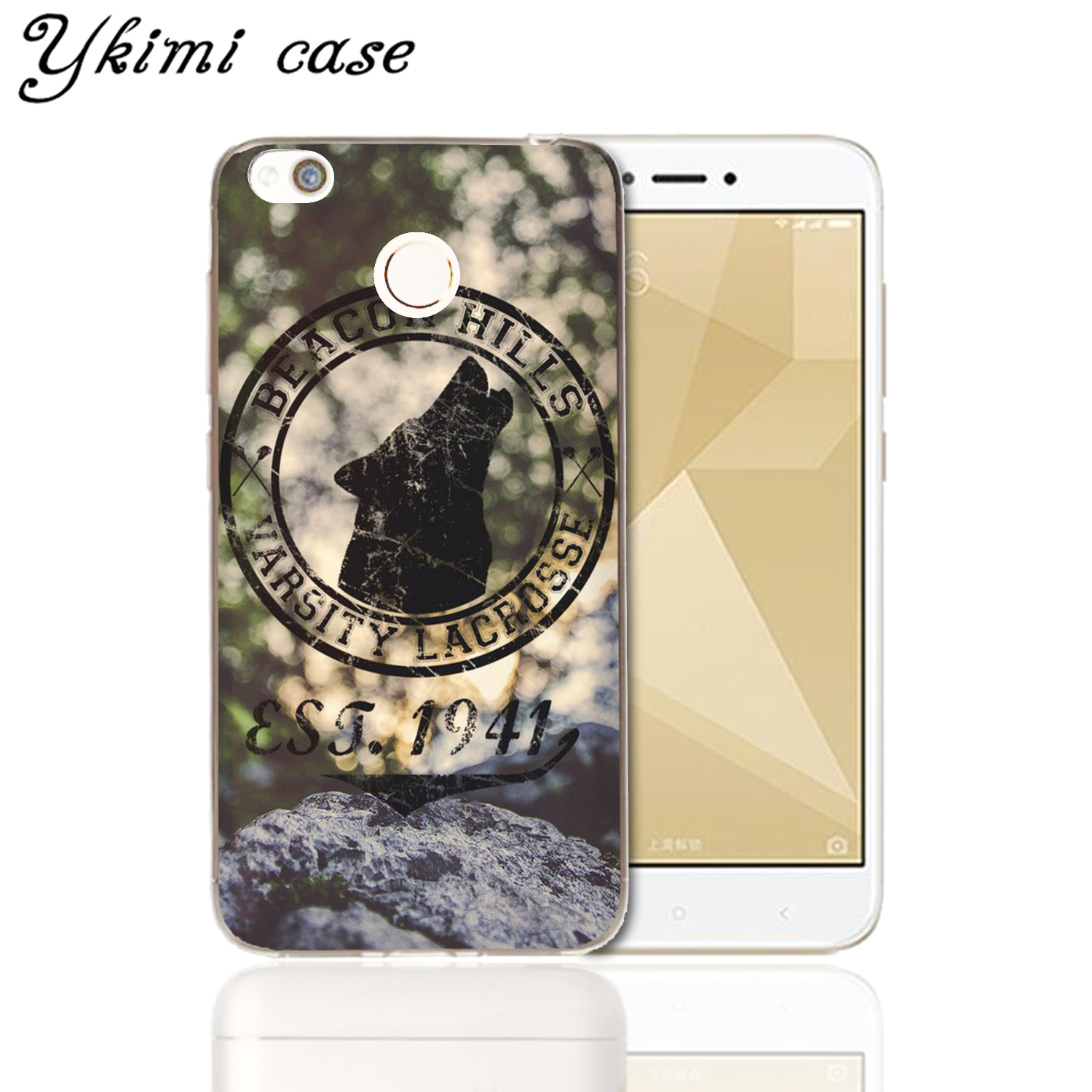 Fashion transparent soft Silicone TPU Capa For Xiaomi Redmi 4X Cover Case Teen Wolf Season O Brien phone shell in Fitted Cases from Cellphones