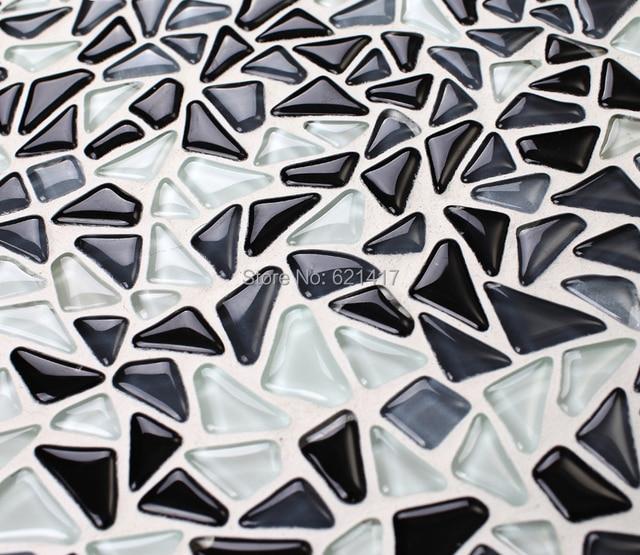 Schwarz Weiß Barock Muster Kristall Glasmosaik Fliesen HMGM1138C Für  Netzeinsatz Bad Wand Boden Küche Backsplash Fliesen