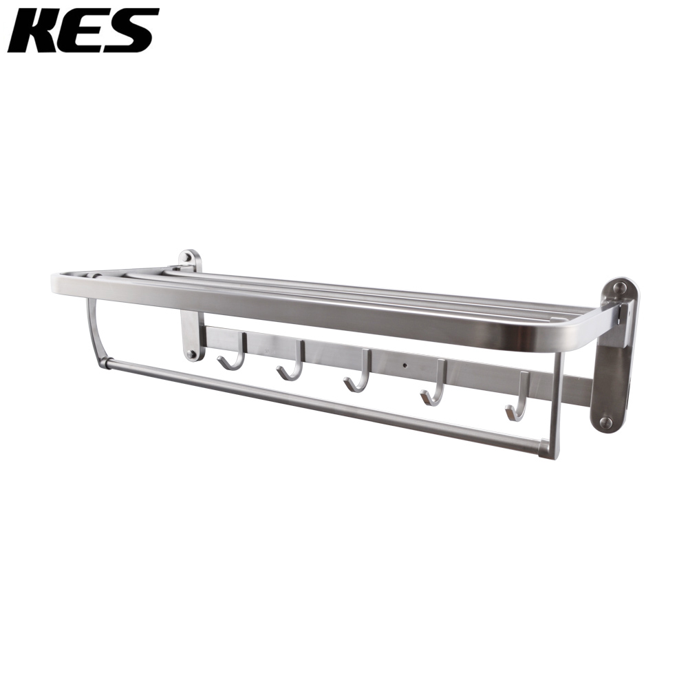 KES T 304 Folding Bathroom Shelf Hotel Towel Rack with Swing Shower ...