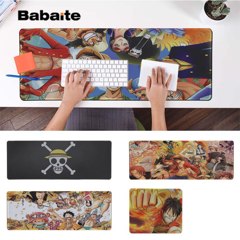 Babaite Hot Sales Anime One Piece Locking Edge Mouse Pad Game Free Shipping Large Keyboards Mat