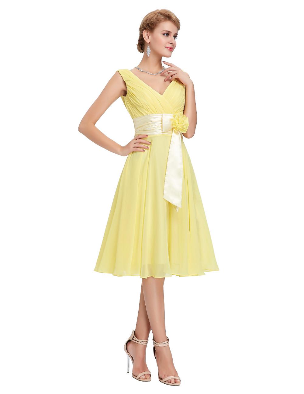 HTB1IswaMVXXXXXDXXXXq6xXFXXXVKnee Length Short Chiffon Blue Dress