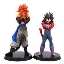 купить 2pcs/Set Dragon Ball Z Figurines Son Goku Gogeta Vegeta Super Saiyan 4 Dragonball Super PVC figure Collection Toys по цене 1173.41 рублей
