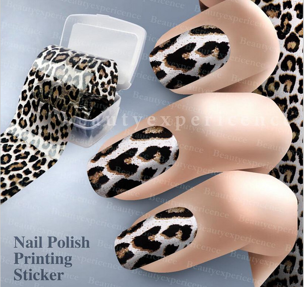 Easy Fall Nail Decoration: 2019 Fashion Leopard Pattern 3D Decoration Nail Art Decals