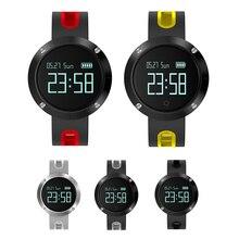 DM58 Смарт-часы монитор фитнес трекер сердечного ритма браслет Спорт шагомер светодиодный Сенсорный экран Смарт часы с зарядный кабель