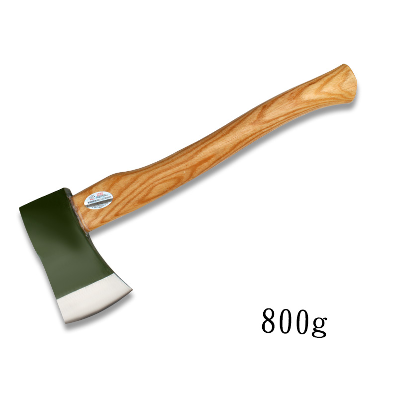 800g Hatchet Single Bit Axe High Carbon Steel with Wood Handle, Multi-Purpose Home Repair Axe Survival Tomahawk Camp Axe outdoor multifunction camping tools axe aluminum folding tomahawk axe fire fighting rescue survival hatchet