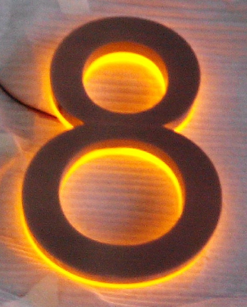 Aliexpress com buy brush red bronze luxello modern 8 backlit led house numbers yellow led h8inches from reliable led candle suppliers on numbers and