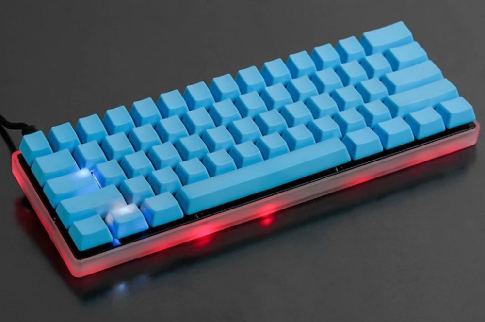 Cool Jazz Acrylic CNC Case Milk Case Shell for 60% GH60 Mini Mechanical Keyboard Compatible Poker2 Pok3r Faceu 60 Etc mechanical keyboard shell base gh60 keyboard case mechanical keyboard shell poker2 base