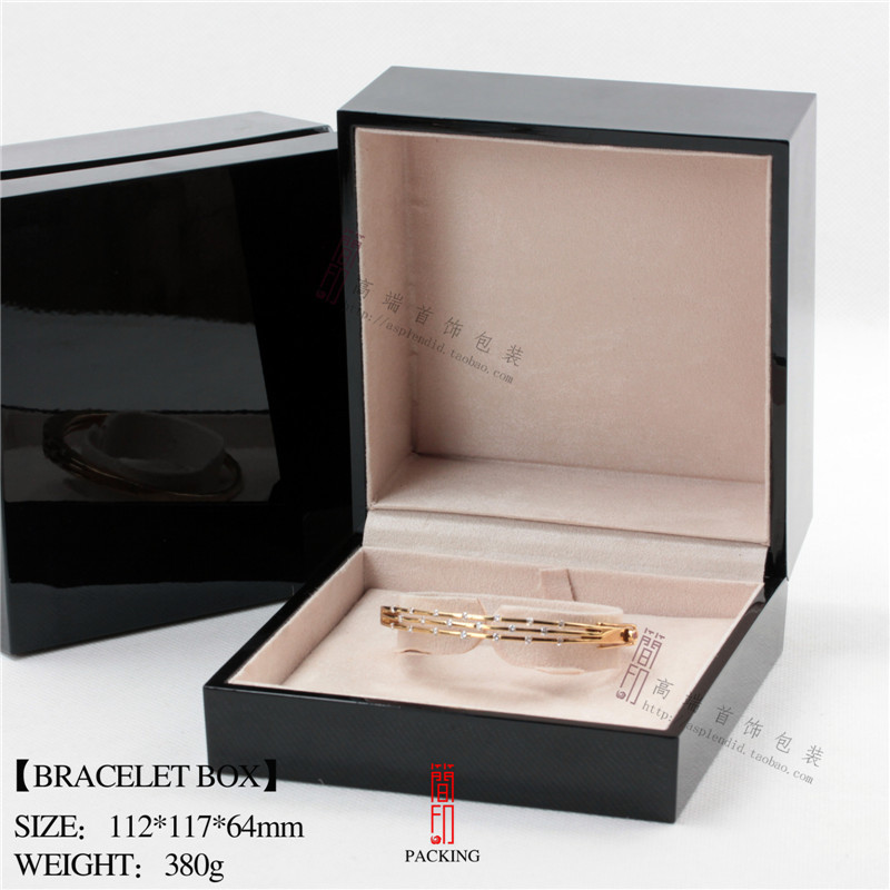 The new high-grade piano paint Bracelet box jewelry gift box factory is acceptable for mass customization