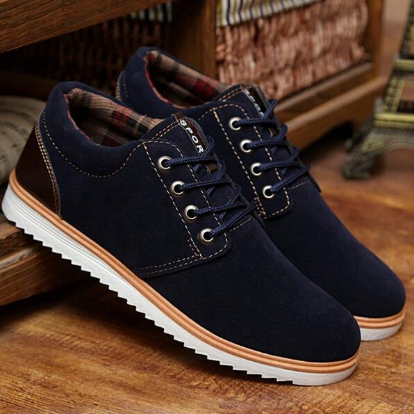 0df54433 2015 autumn Fashion chaussure homme leather casual shoes men sneakers zapatos  hombre ankle boots mens shoe big size Europe 39 44 en Zapatos de Fitness y  ...
