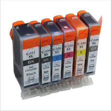 6 шт. PGI-525 CLI-526 GY чернильный картридж Для canon PIXMA IP4850 IP4950 IX6550 MG5150 MG5250 MG5350 MX885 MX895 MX715 MG6140 принтер
