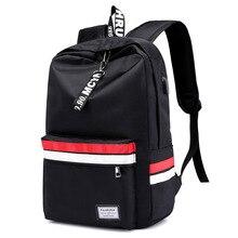 New unisex black Women Backpack Female Nylon Teens Men Schoolbag Casual Style Student School Bags for Teenage Girls Back Pack