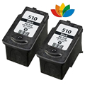 2pk Compatible canon 510 ink cartridge for PG 510 PIXMA MP230 MP240 MP250 MP260 MP270 MP280 MP282 MP480 MP490 MP499 printer