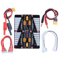 6in1 XT60 Lipo Battery Charger 2 8S Parallel Balanced Charging Board Plate for Imax B6AC PL6 PL8 720i Lithium Batteries Part