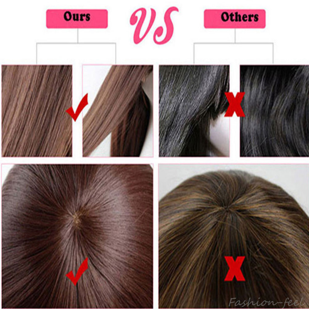 Image 4 - S noilite Synthetic Wigs Long Straight Ombre Wig Heat Resistant Fiber Mint Green Black Roots Wigs for Women Fake Hair-in Synthetic None-Lace  Wigs from Hair Extensions & Wigs