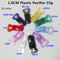 (10 color ) 50pcs Hot T shape Plastic Baby Pacifier Dummy  Soother Suspender Chain Holder Clips for 10 mm ribbon